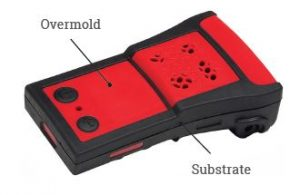 Overmold and substrate