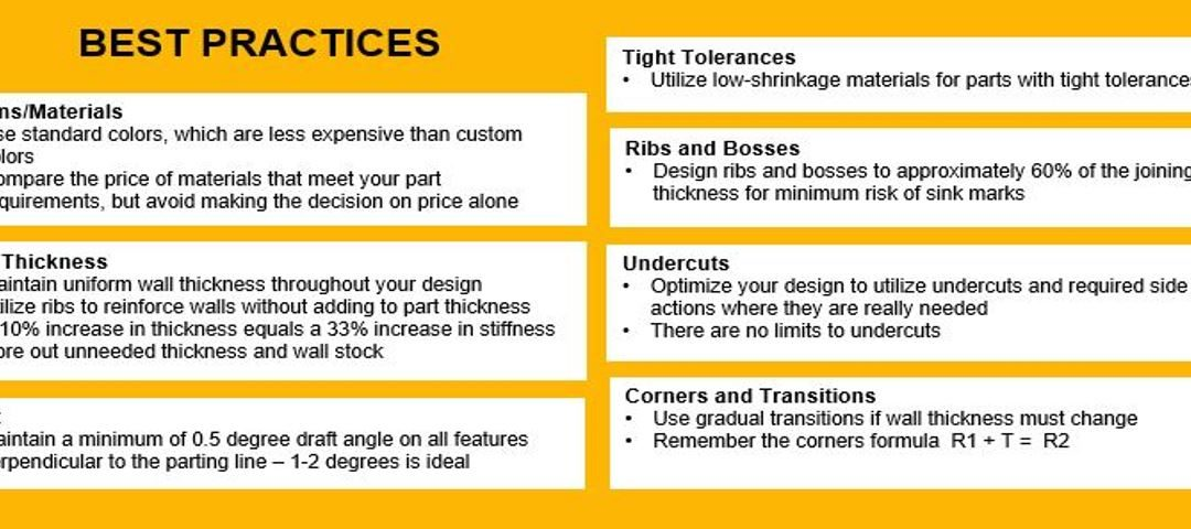 Quick Reference Guide for Injection Molding Part Design