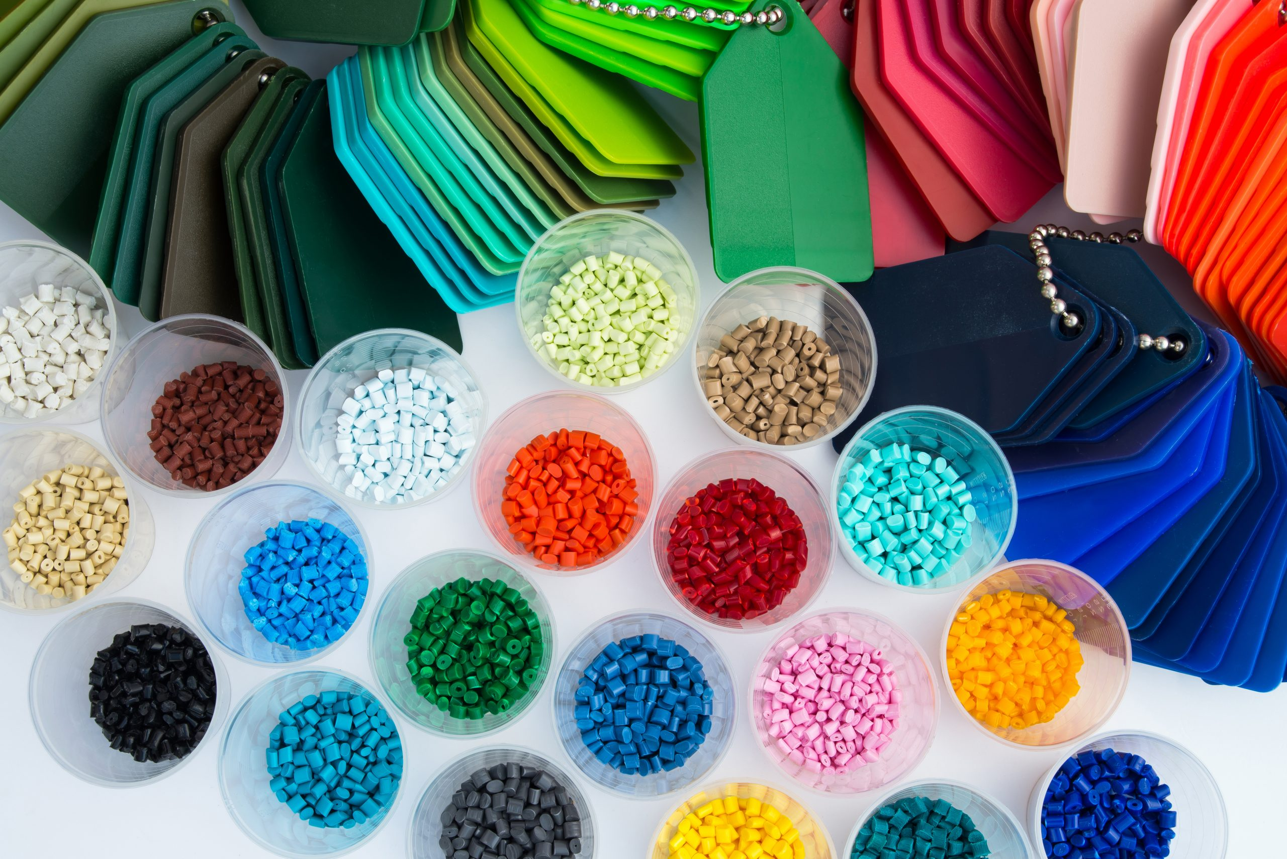 plastic material selection colors