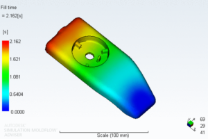 Fill Time result from the mold flow analysis report